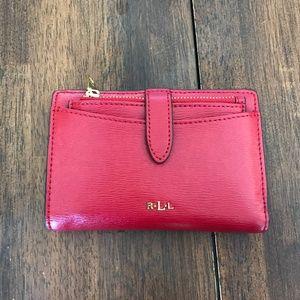 Ralph Lauren Red Leather Wallet